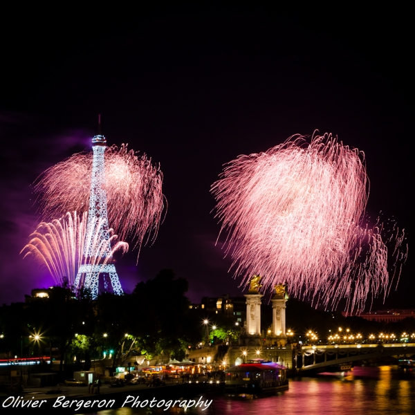 Paris National day firework 2014
