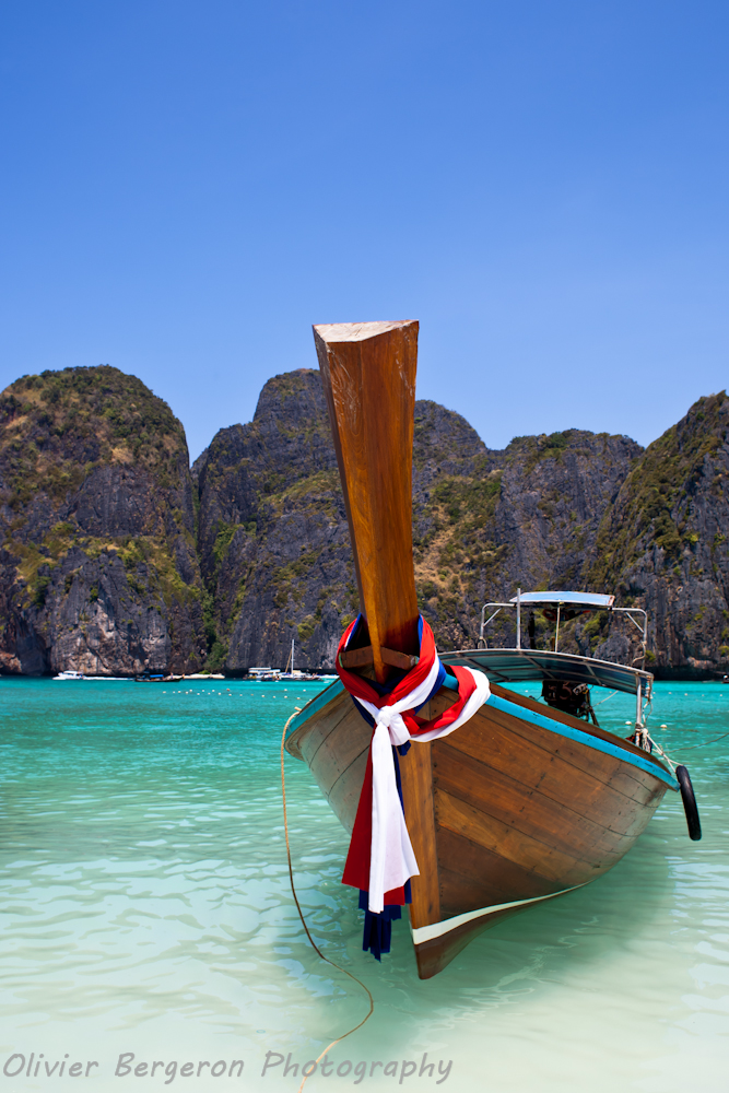 Long tail boat in Maya Bay - Krabi - Thailand