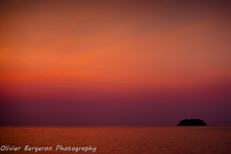 Red sky sunset - Koh Chang - Thailand