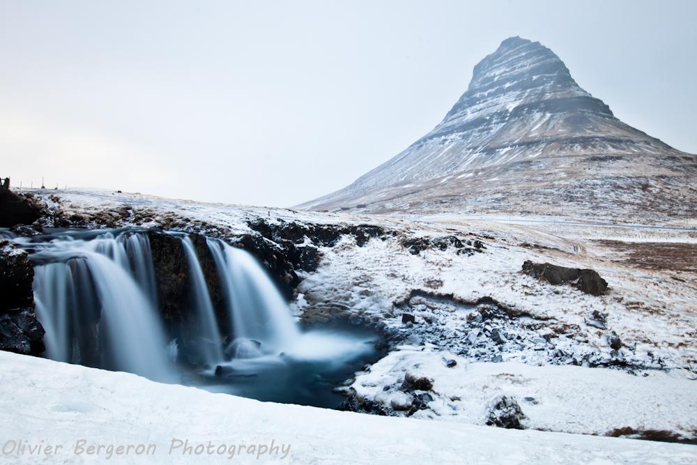 Kirkjufellfoss in winter