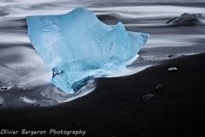 Ice on beach - Jokulsarlon - Iceland - landscape