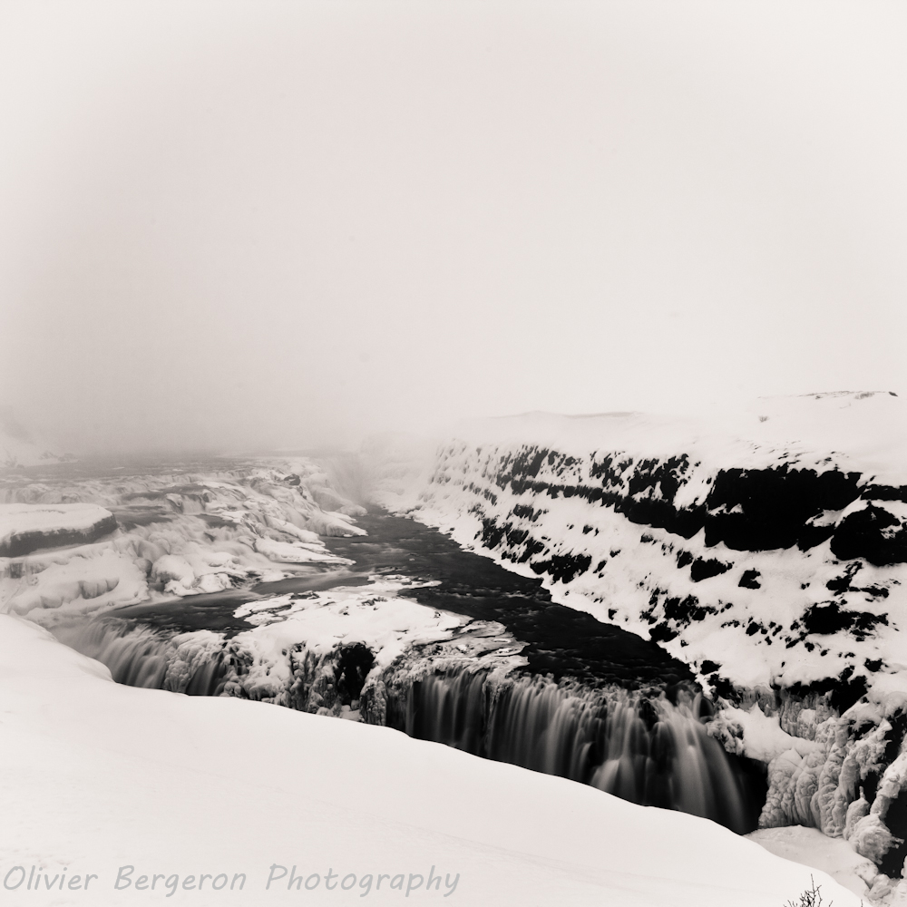 Gulfoss in winter - waterfall - landscape