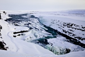 Gulfoss in winter - waterfall - landscape - iceland