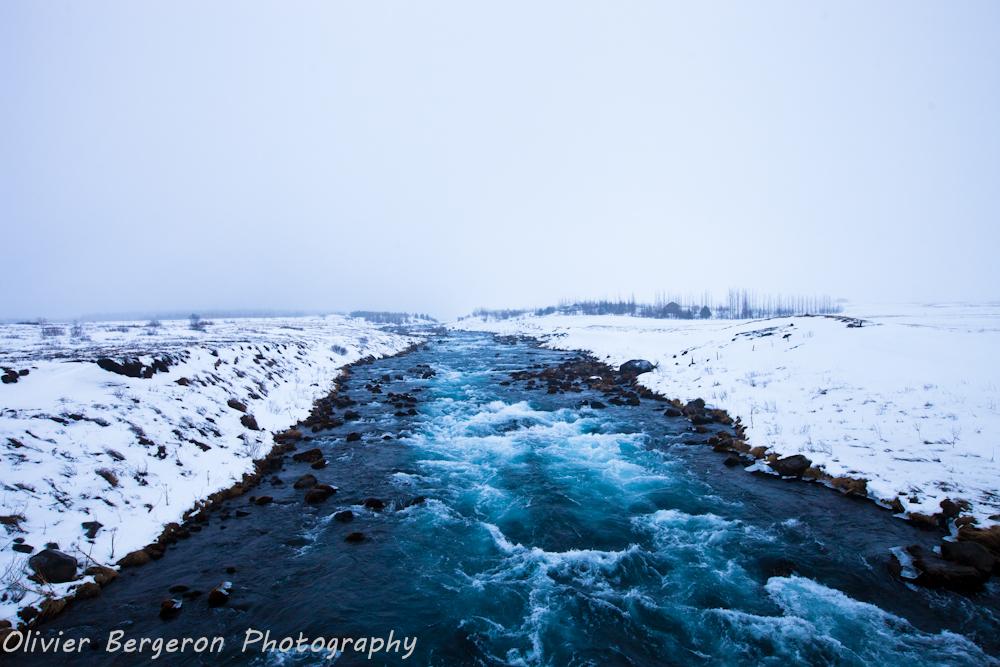 Tungufljot river - iceland - winter - landscape