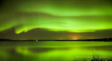 Aurora - Myvatn lake - オーロラアイスランド