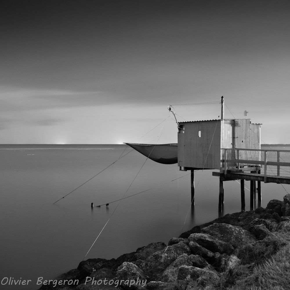 landscape , Carrelet, meschers-sur-gironde, France, travel and seascape photography