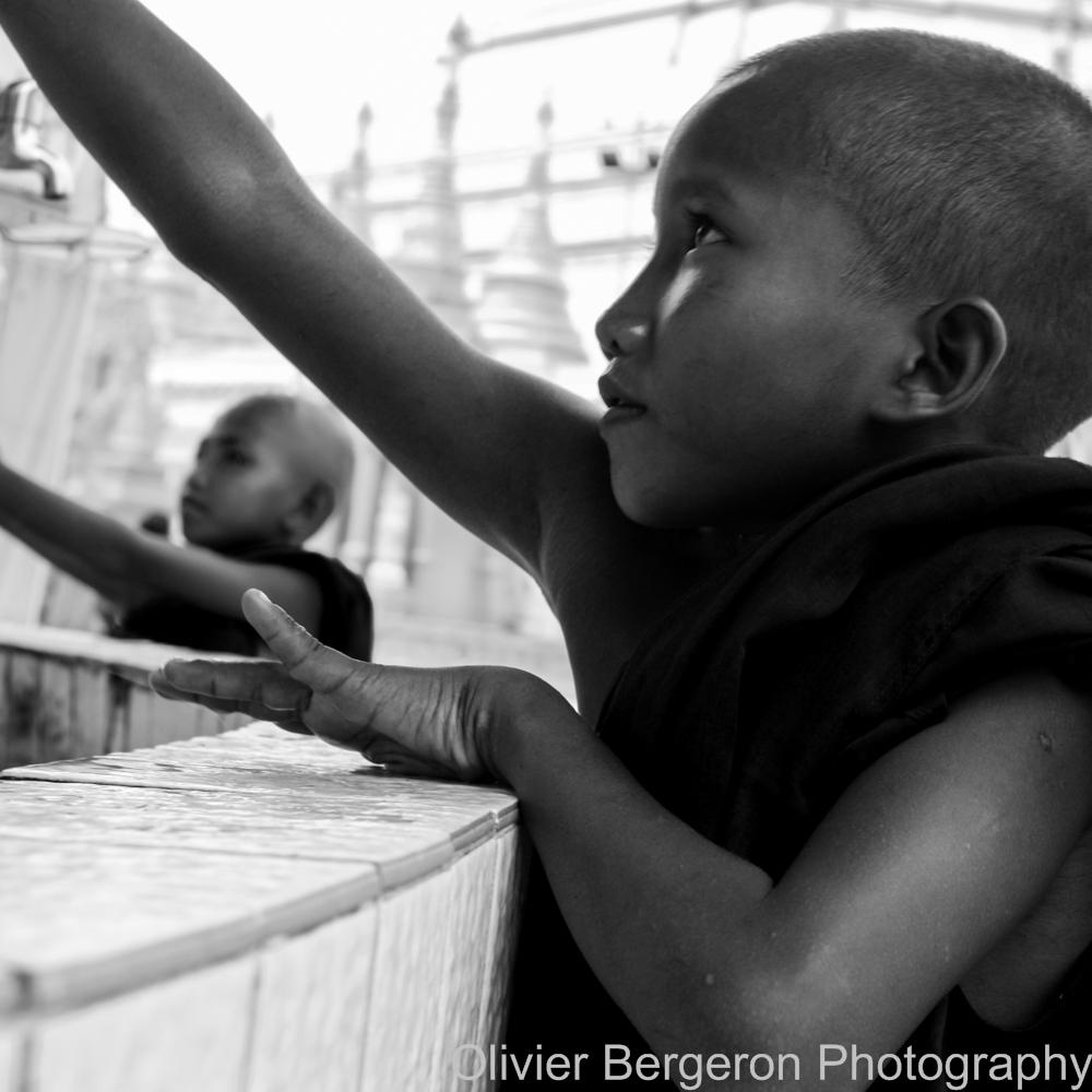 Two young monks - Yangon 2012 - Myanmar