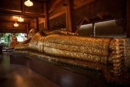 Reclining buddha - Wat phra non Chaksi - thailand