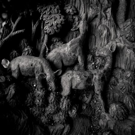 deer - wood carved - thailand - wat phra non chaksi