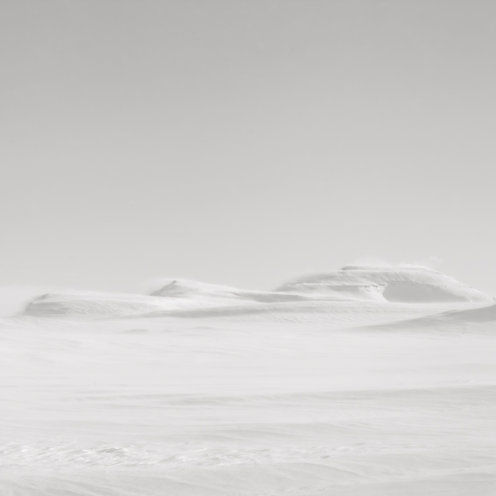 Three hills - North Iceland - winter landscape