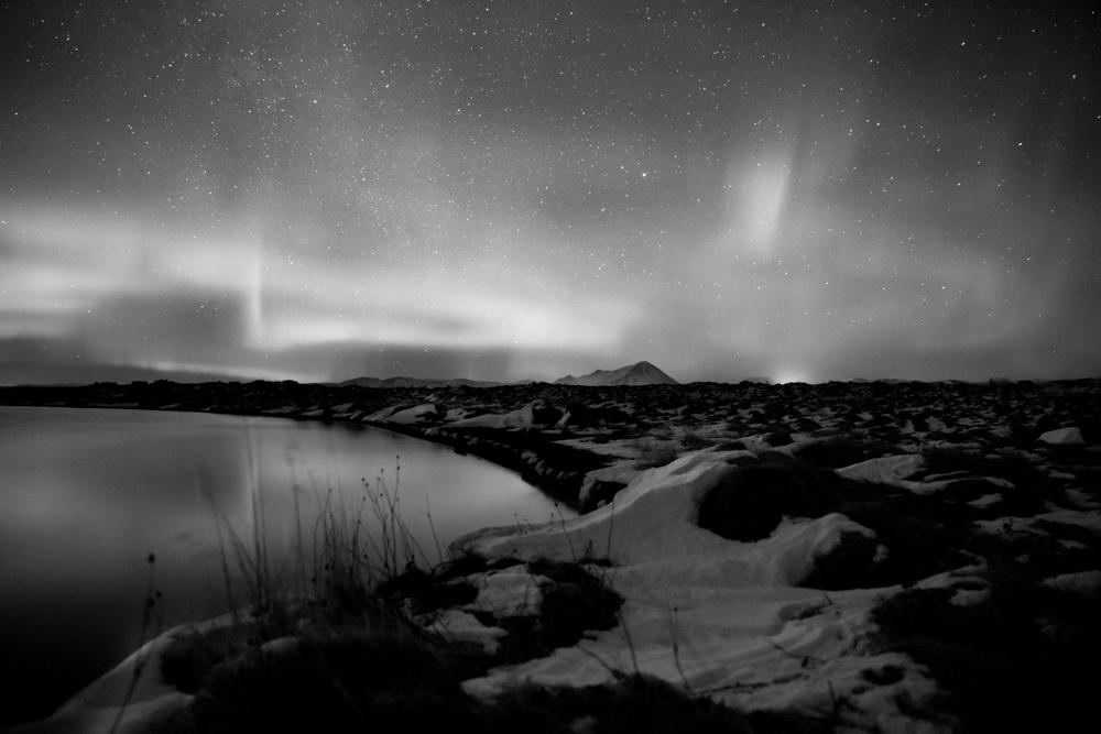 aurora borealis - iceland - lake myvatn