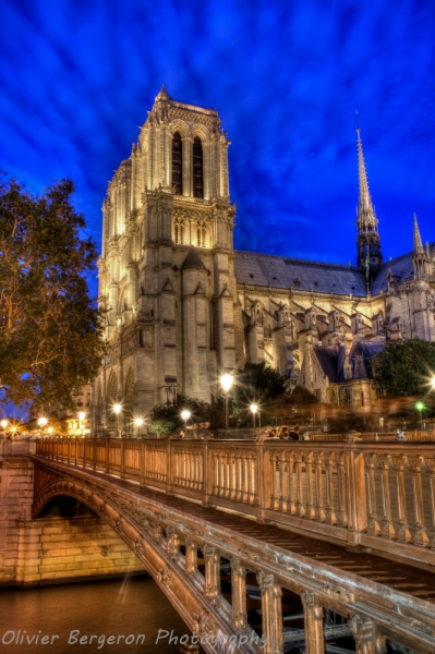 Notre-Dame-De-Paris-Blue-Hour-HDR-Paris